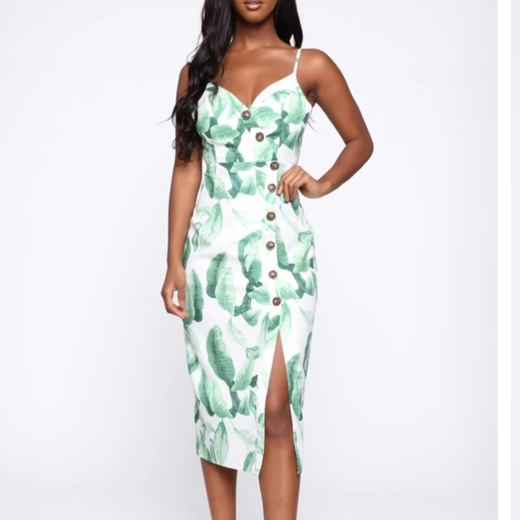 Plus Size Seaside Sippin\' Tropical Dress